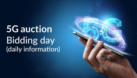 Daily information on the 5G auction