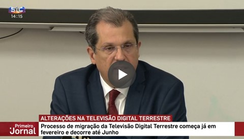 Migration process of the DTT network, on the ''Primeiro Jornal'' programme, by SIC Notícias, on 29.01.2020.