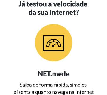 Já testou a velocidade da sua Internet? Saiba de forma rápida, simples e isenta a quanto navega na Internet no Net.mede.