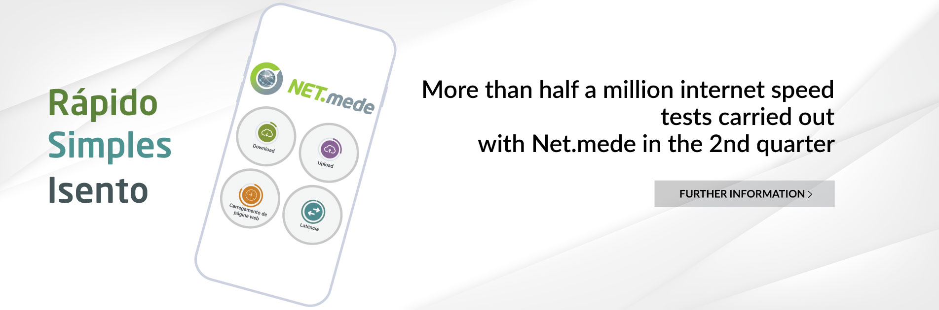 More than half a million internet speed tests carried out with Net.mede in the 2nd quarter