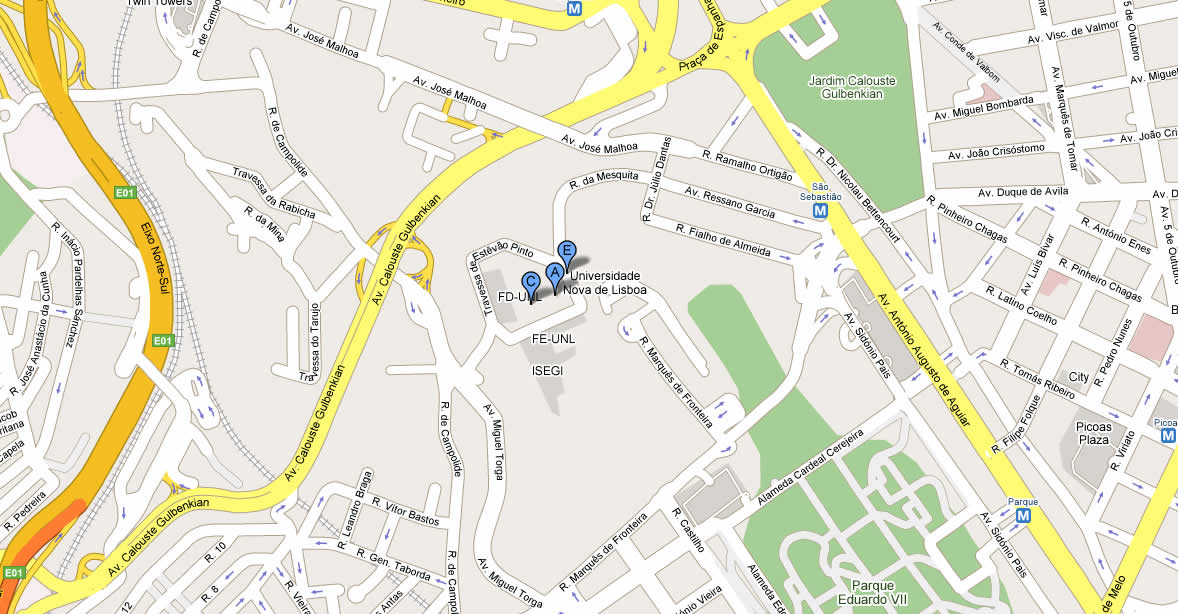 rua jose malhoa lisboa mapa ANA  Venue and useful information rua jose malhoa lisboa mapa