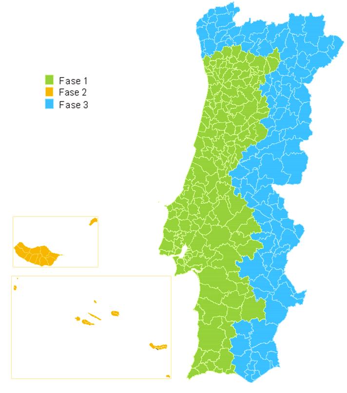 litoral de portugal mapa Apagão TDT, mapas de desligamento   litoral de portugal mapa
