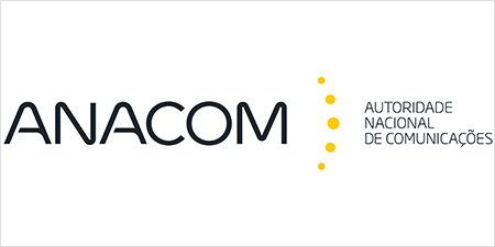 ANACOM logo with the designation Autoridade Nacional de Comunicações.